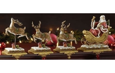 set of 4 joseph s studio santa claus and reindeer