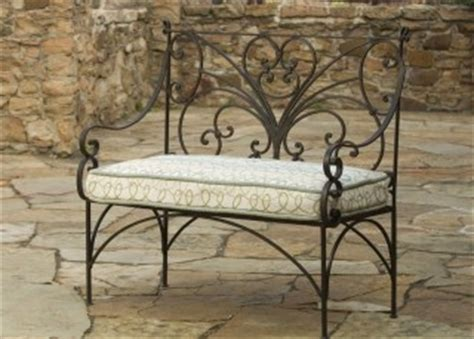 wrought iron garden bench mission homeify