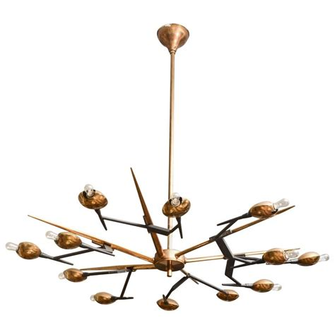 Chandelier Interesting Brass Chandelier Exciting Brass Chandelier Antique 1960 S Italian Brass And Black Metal Chandelier By Oscar Torlasco From A Unique Collection Of
