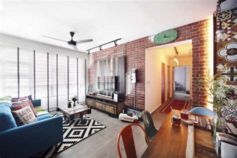 Living Room Dining Room Ideas an hdb flat with an industrial kampong vibe lookbox living