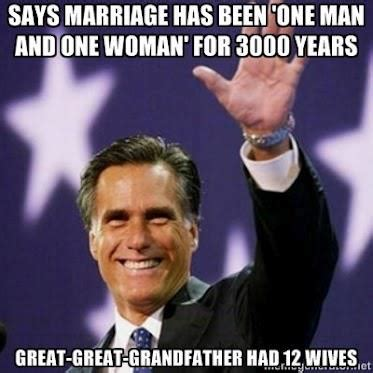 Traditional Marriage Meme - political memes mitt romney traditional marriage