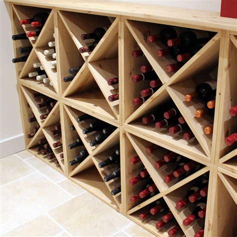 Wine Rack Uk by Pine Wooden Wine Rack Cellar Cube 144 Bottles 298mm