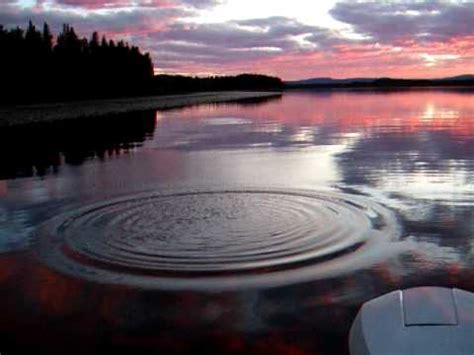 water ripples  longlake alberta youtube