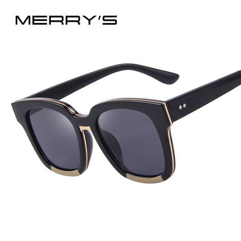 Frame Unisex Fashion 6752 Coklat Box Fashion merry s sunglasses acetate frame unisex sun glasses classic flat coating lenses with box s