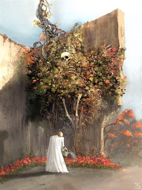 garden of fallen leaves by sanskarans on deviantart