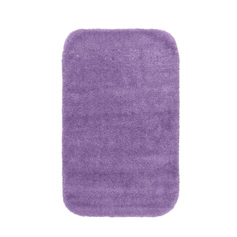 Purple Bathroom Rugs Garland Rug Traditional Purple 24 In X 40 In Washable Bathroom Accent Rug Dec 2440 09 The