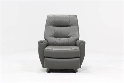 wallaway recliners rogan leather grey power wallaway recliner living spaces