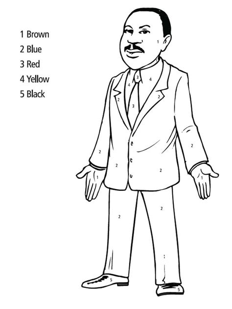 printable coloring page of martin luther king jr dr martin luther king jr coloring search results