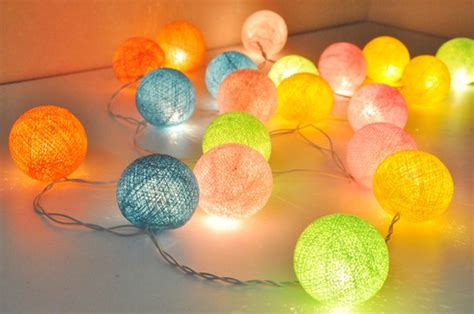 cotton lights cotton string lights 110v on switch for usa