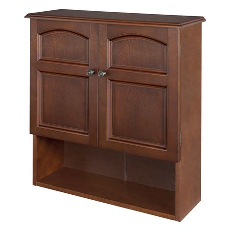 Wall Mounted Cabinet Bathroom Storage 3 Shelves Mahogany Wall Hung Bathroom Storage