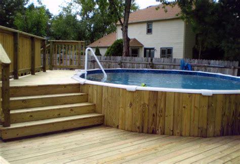 in ground pool ideas semi inground pool deck ideas backyard design ideas