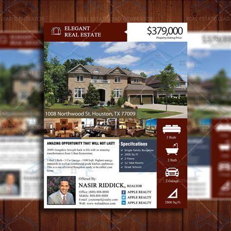 elegant suburban property listing template real estate