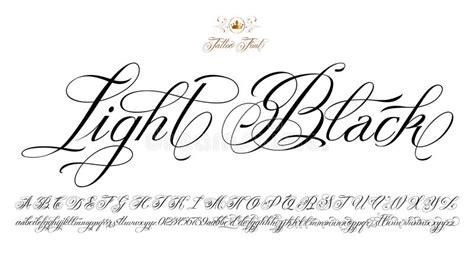 tattoo font prices light black tattoo font stock vector illustration of
