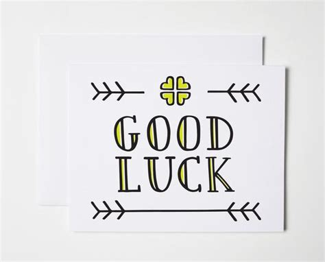 printable card good luck good luck card the paper cub co