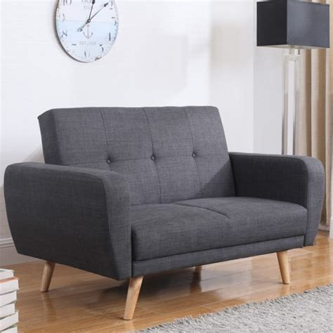 Settee Bed by Farrow Grey Fabric Sofa Bed