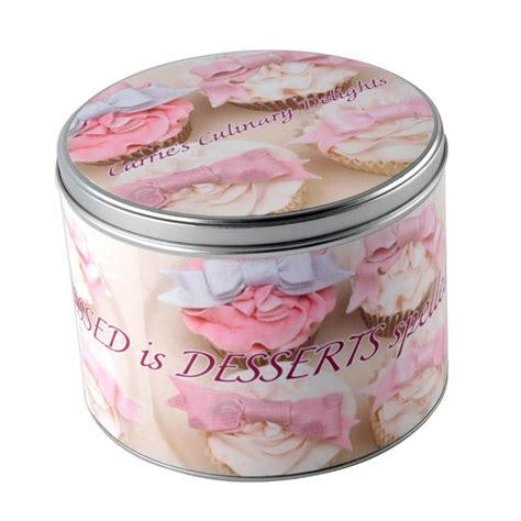personalized round tins design your own custom round tins