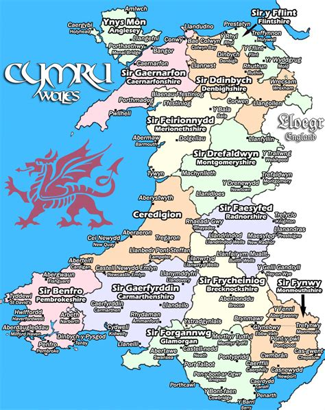 map o map o gymru map of wales by abacaxin on deviantart