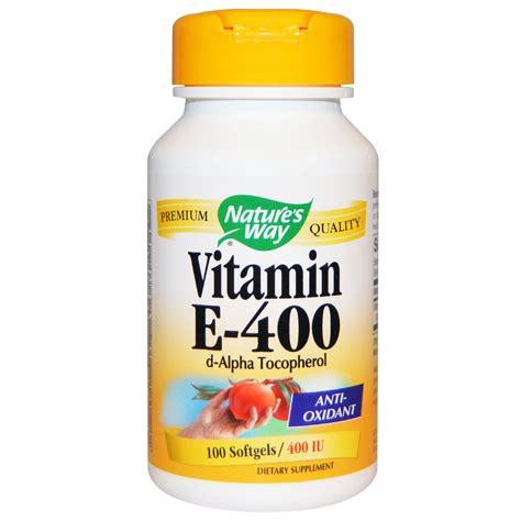 Vitamin E Nature S Way Vitamin E 400 400 Iu 100 Softgels Iherb
