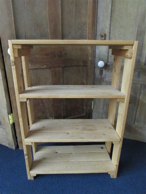 lot detail small pine bookcase