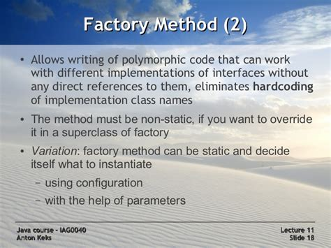 without pattern synonym java course 11 design patterns