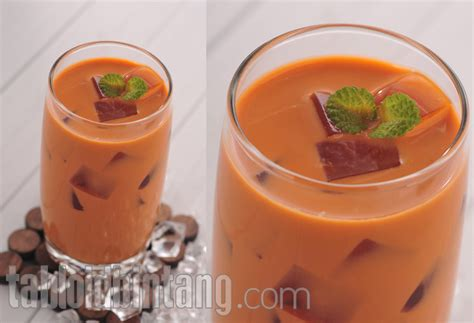 cara membuat thai tea di rumah resep thai tea jelly tabloidbintang com