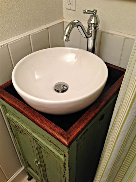 diy vessel sink vanity bathroom inspiring diy vessel sink vanity for bathroom