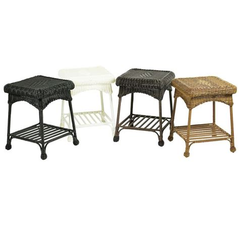 Wicker Patio Accent Table Outdoor Wicker Patio End Table