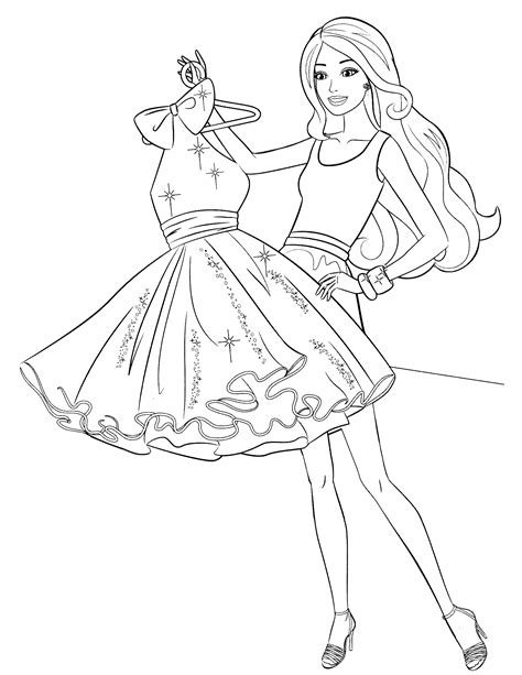 barbie superhero coloring page dibujos de los vestidos de barbie para colorear