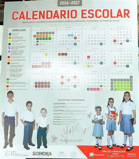 calendario escolar para el ciclo 2016 2017 presenta sec calendario escolar de sonora para el ciclo