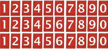 cub scout pack numbers decal set
