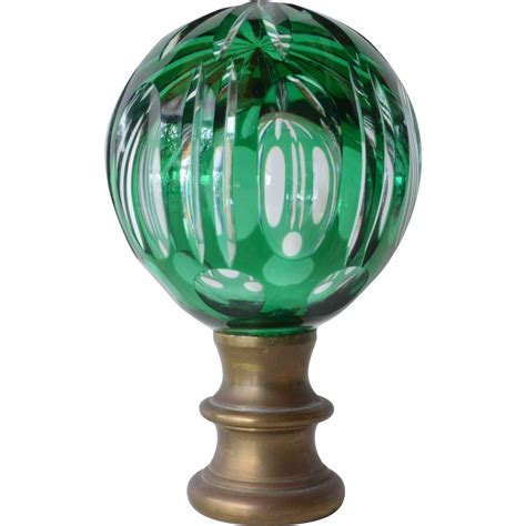 Glass L Finial by Glass Finial For A Newel Post Late 19th Century From