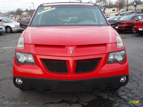 pontiac aztek red 2002 bright red pontiac aztek 18032597 photo 2