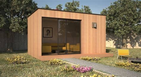 bureau de jardin maisonnette dans le jardin