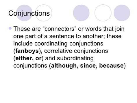 pattern of correlative conjunction parts of speech and sentence structure notes