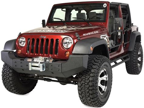 jeep rubicon winch bumper olympic 4x4 products front bumper recessed winch mount in