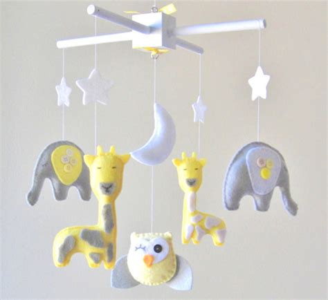 mobile baby baby mobile elephant giraffe owl by lovefelt creations