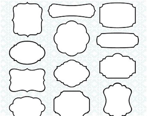 black and white label templates printable labels etsy