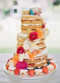 Naked wedding cakes a great concept for a rustic wedding modwedding