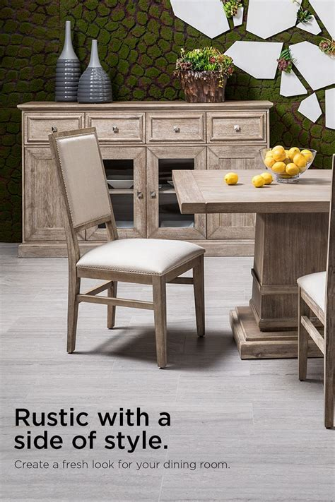 hudson graydexter gray  piece formal dining set rustic
