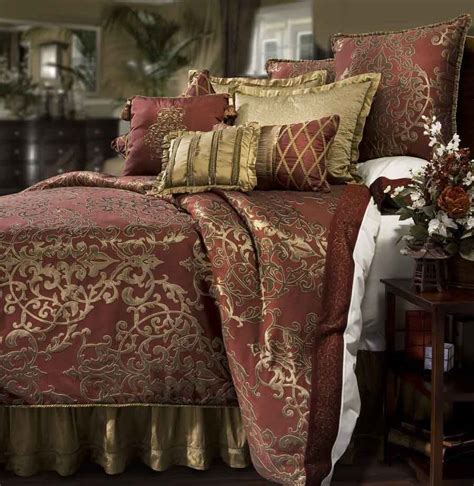 California King Comforters by Glenaire 4 Pc California King Comforter Set Pomegranate