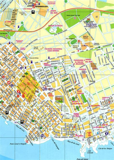 printable street map benidorm 125 best images about places i have been on pinterest