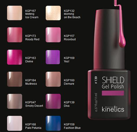 Led Nail Uv Lamp by Kinetics Shield Gel Polish Collection For Summer 2012
