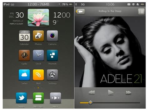 iphone themes cydia sources top 5 cydia themes on iphone ipad ipod touch november 2012