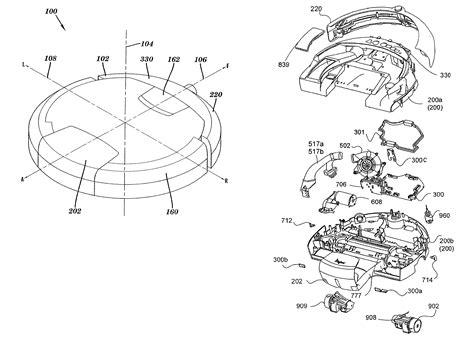 roomba parts diagram patent us8387193 autonomous surface cleaning robot for