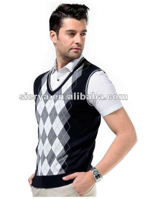 diamond pattern sleeveless jumper men s diamond pattern cotton vest sleeveless sweater buy