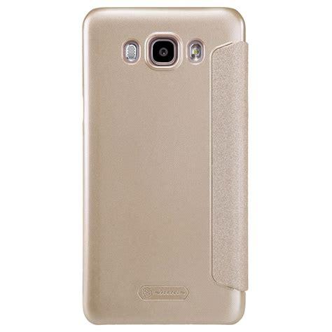 Nillkin Sparkle Leather For Samsung Galaxy J7 2016 J710 Emas Samsung Galaxy J7 2016 Nillkin Sparkle Series View Flip