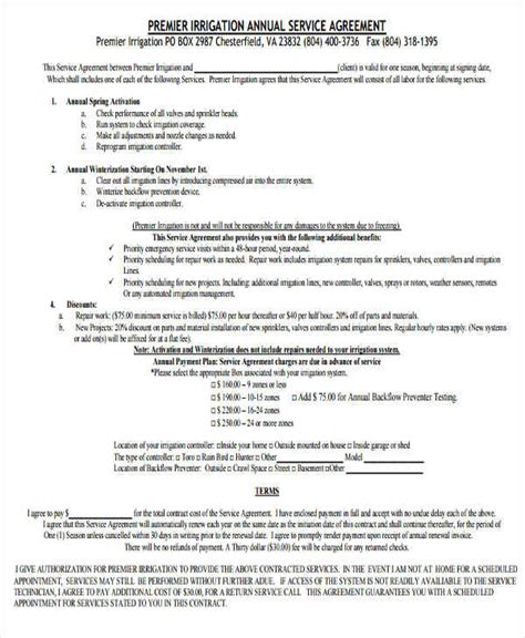yearly contract templates 8 yearly contract sles templates sle templates