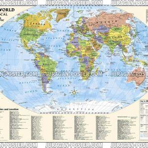 Poster Model Rambut Untuk Salon Dan Center 04 60x40cm world map peta dunia juragan poster jual poster