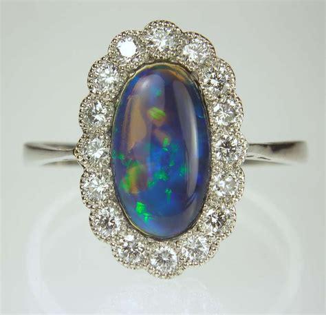 black opal ring in platinum 163 2 895