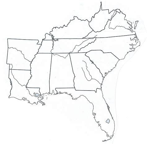 printable map of the southeast united states free coloring pages of us region map